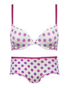 Jual-Bra-Lady's-Secret-Lingerie-White-purple-dots-print