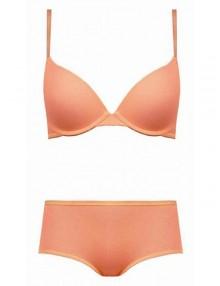 jual Bra set Amitie cotton with lace orange
