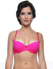 Push-Up-Bra-Forget-Me-Not-Fluro-Pink