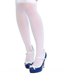 Sheer Over Knee Socks White