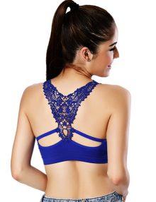 jual Lisette fashion tanktop bra biru 2