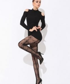 Fishnet Pantyhose With Diamond Pattern