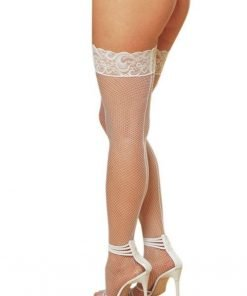 jual Fishnet Stocking With Lace Putih