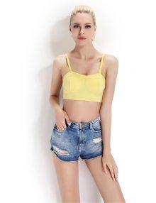 Jual Sexy Summer Bralette Six Strap Yellow