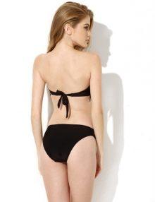 Bikini Bandeau Strapless Fringe Black