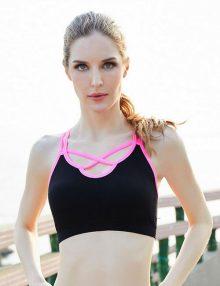 Sport Bra Cross Back Pink