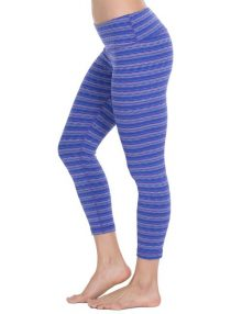 Legging 90 Degree textured Capris Blue