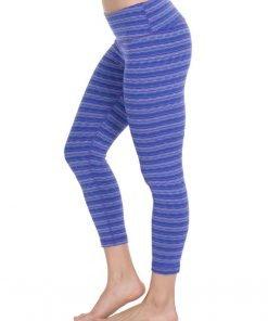 Legging 90 Degree textured Capris Blue