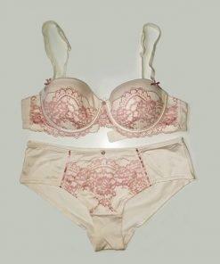 Bra Set Peach Pink Lace