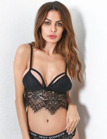 Fashion Bralette Dioma Flower Lace Black