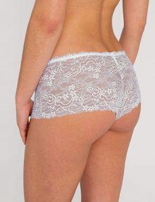 Bra Set Lilac White Lace With Boxer