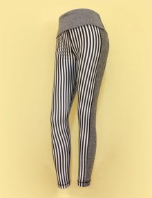 Legging 90 Degree Grey Vertical Stripe