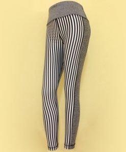 Legging 90 Degree Grey Vertical Stripe