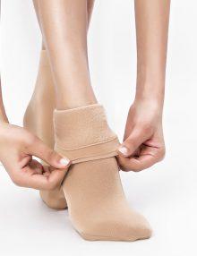 Cotton Velvet Socks Nude