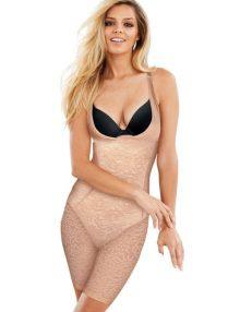 Bodyshapewear Maidenform Womens Sexy Lace Firm Control Singlet Nude
