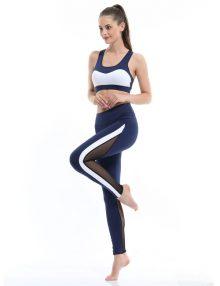 Yoga Legging Tulucky Sheer Mesh Blue