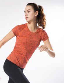 Women Short Sleeve Activa Sport T-Shirt Orange