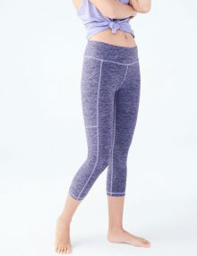 Leggings LLD Studio Pocket Crop Purple