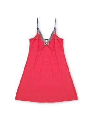 Lingerie Chemise Tori Electric Red Grey