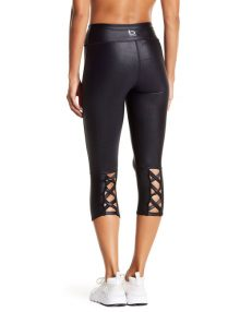 Sport Leggings Ruched Capri Black