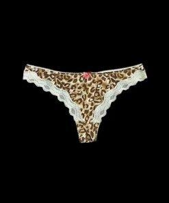 Thong Forget Me Not Femme Vanilla Animal Print