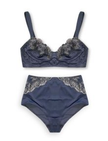 Bra Set Esmara Non Padded Wire Free Shadow Blue