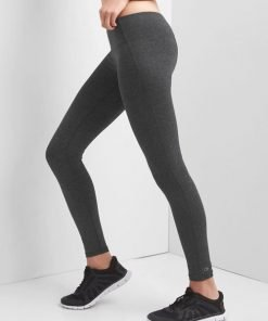 jual-Leggings-GapFit-Low-Rise-Heathered-Full-Length-charcoal