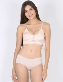 Bra Set Amitie Triangle Lace Wirefree Light Pink