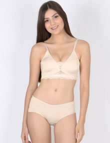 Bra Set Amitie Triangle Lace Wirefree Light Skin