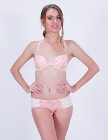 Bra Set RHETO Front Closure Y Line Back Georgia Peach