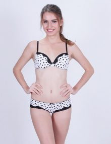 Bra Set Rheto Polkadots White