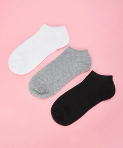 Kaos Kaki Three Pack Plain Invisible