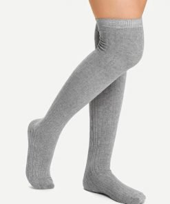 Kaos KakiOver The Knee Plain Grey