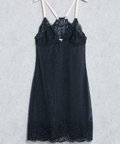 Babydoll Emporio Armani Scallop Lace Detail Black
