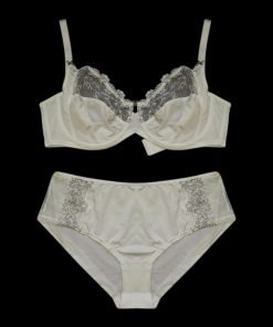 Bra Set Viania Olive Lace White