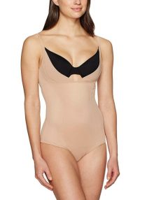 Bodysuit Open Bust Wear Your Own Bra Nude