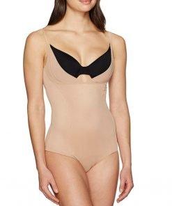 Bodysuit Open Bust Wear Your Own Bra Nude