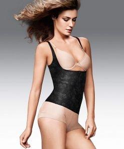 Vest Shapewear WYOB Front Zipper Firm Control Black