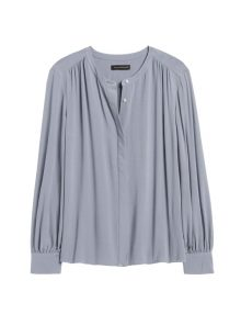 Blouse Ecovero Balloon Long Sleeves Grey