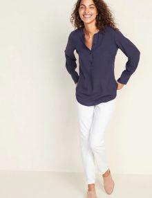 Blouse Lightweight Pullover Tunic For Women