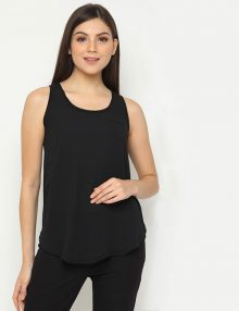 Blouse No Sleeve Polyester Black