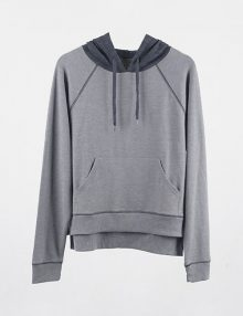 Hoodie Colorblocked Pullover Grey