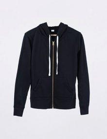 Jaket Hoodie Full Zipper Pullover Black