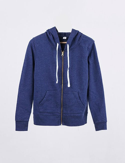 Jaket Hoodie Full Zipper Pullover Blue Navy