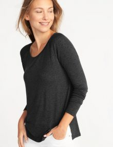 Kaos Old Navy Soft Spun Raglan Long Sleeve Black