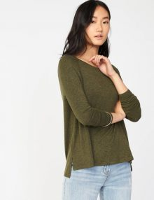 Kaos Old Navy Soft Spun Raglan Long Sleeve Green