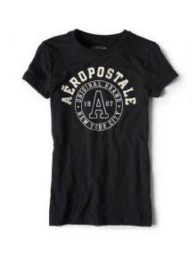 Kaos Wanita Aeropostale Round Neck Classic NYC Graphic Black