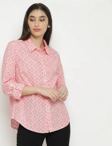 Kemeja Wanita Mozaik Print Pink