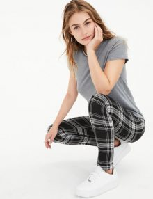 Sporty Legging Big Plaid Black
