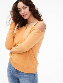 Sweater Aeropostale Sexy Shoulder Saffron Gold